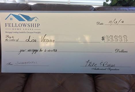 Sweepstakes Winners - Fellowship Home Loans